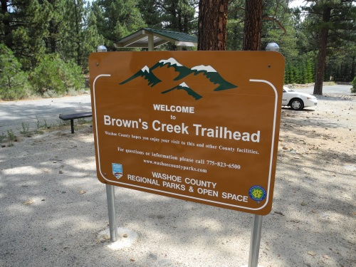 Brown's Creek Trailhead, south Reno, Nevada, NV