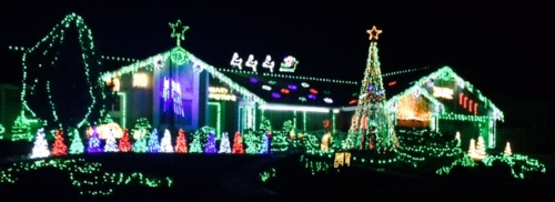 Christmas lights displays, Sparks, Reno, Nevada, NV