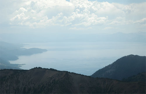 Lake Tahoe view from summit of Mt. Rose, Nevada