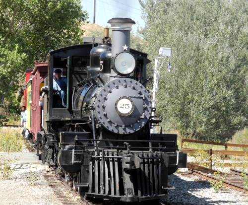 Steam train rides at the Nevada State Railroad Museum, Carson City