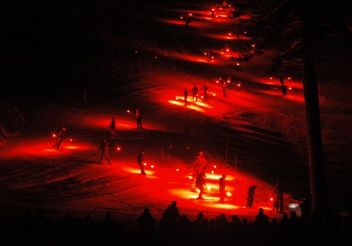 New Year's Eve torchlight parade at Mt. Rose Ski Tahoe