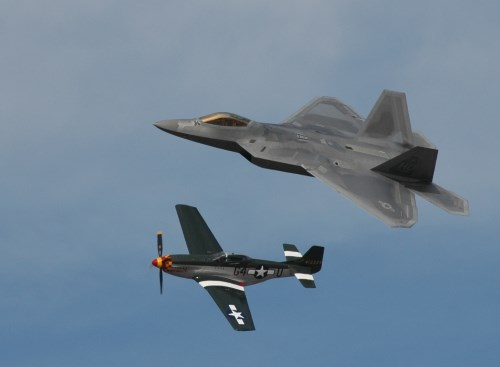 Heritage flight at the Reno Air Races, Nevada, NV