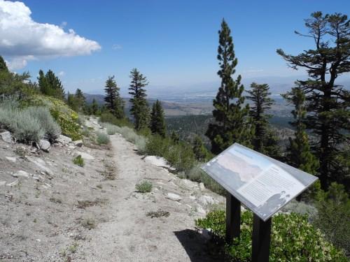 Interpretive signs found along the Slide Mountain Trail near Reno, Nevada, NV
