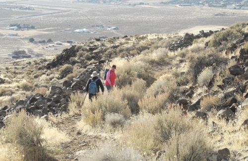 Trail to the summit of Sugarloaf Peak, Sparks / Spanish Springs, Nevada, NV
