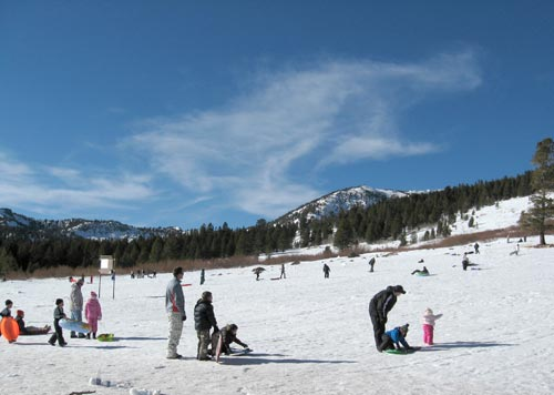 Tahoe Meadows snow play area