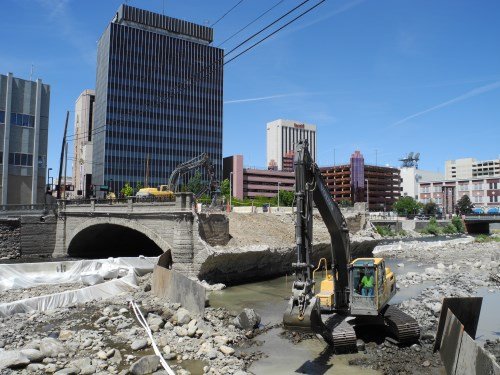 Virginia Street Bridge demolition, Reno, Nevada