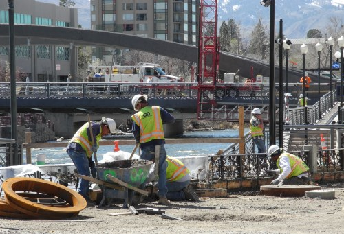 Virginia Street Bridge work site in Reno, Nevada