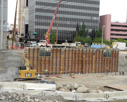 Virginia Street Bridge site work, Reno, Nevada