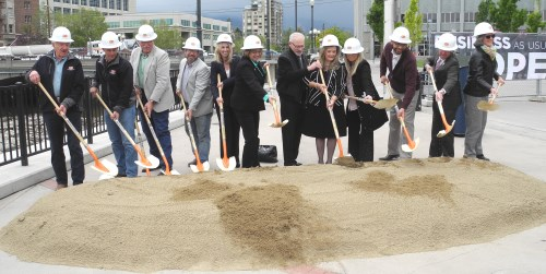 New Virginia Street Bridge groundbreaking ceremony, Reno, Nevada