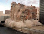 Mapes Hotel implodes, downtown Reno