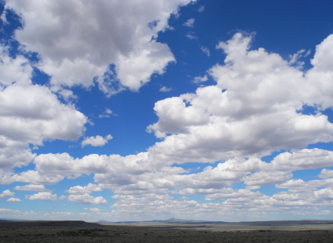 Clouds and wide open spaces, northern Nevada, NV