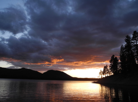 Sunset, Davis Lake, California, CA