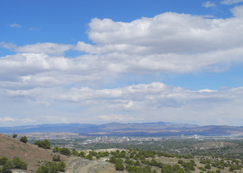 Downtown Reno view, looking east, Nevada, NV