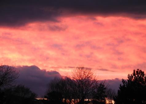 sunset,winter, Reno, Nevada, NV