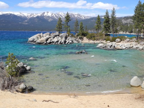 Sand Harbor Beach At Lake Tahoe Nevada