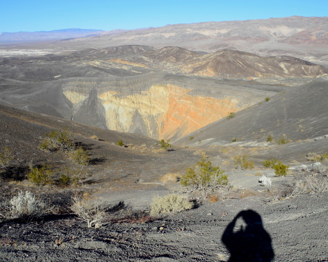 Ubehebe Crater, Death Valley National Park, hiking, California, CA