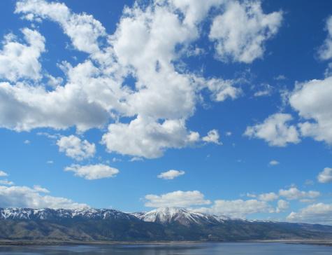 Washoe Lake, Slide Mountain, Sierra Nevada, Reno, Nevada, NV